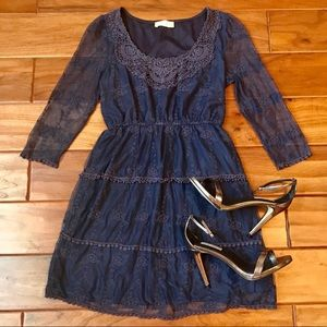 Alter'd State Navy Blue Lace Dress